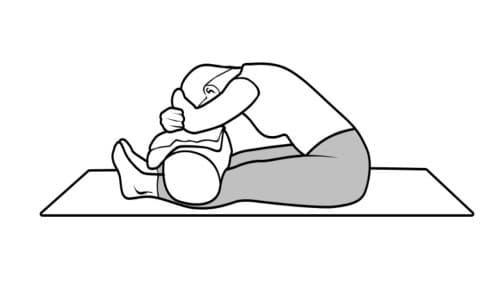 yoga restaurativo paschimottanasana