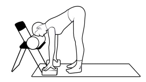 yoga restaurativo uttanasana